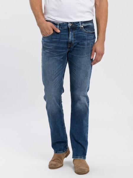 Cross Jeans Herren Jeans Jeanshose Stretchjeans Dylan Reg Schwarz Black Crinkle